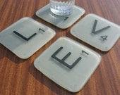 Fused Scrabble Tile Coasters