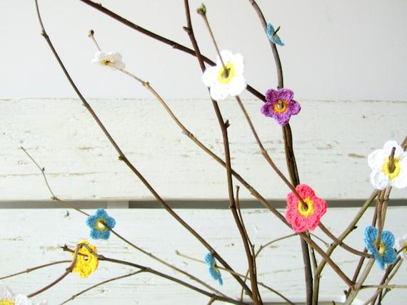 Crochet Multicolor Anemone Flower Bloosoms (25pcs)