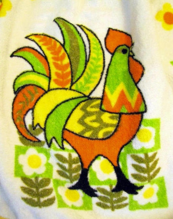 Vintage Terrycloth Rooster Apron