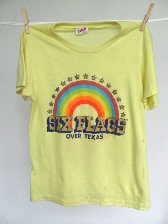 70s SIX FLAGS over Texas vintage tee
