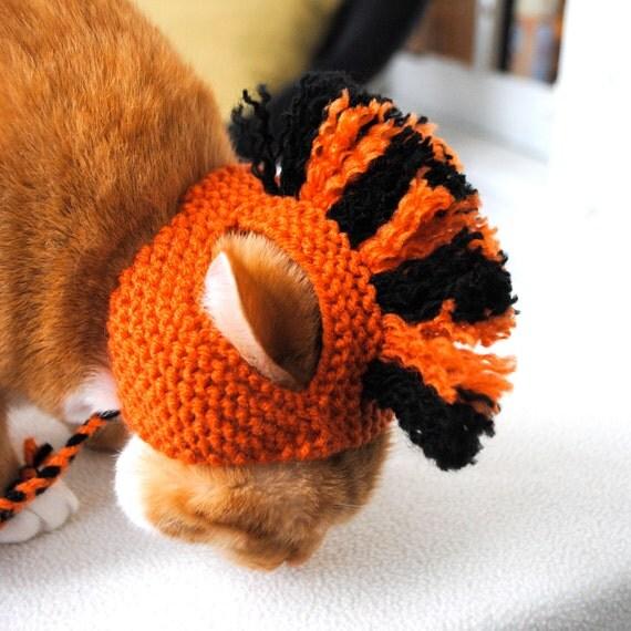 Cat Hat Costume - Orange and Black Mohawk