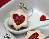 Reserved for Karen - Strawberry Jam Cookies Earrings