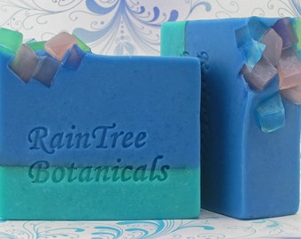 Sea Glass Cold Process Soap with Olive Oil, Avocado Oil and Shea Butter
