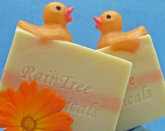 Sensitive Skin Soap– Lavender Chamomile Cold Process Soap with Soap Ducky