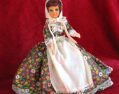Vintage Frontier Woman Plastic Doll w/ Shoes & Sleep Eyes