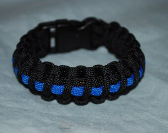Fallen Officer Tribute Paracord Bracelet