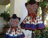 Sale......The Enchanted Corazones Mother Daughter Aprons
