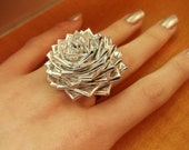 Duct Tape Rose Ring- Chrome