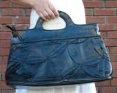 SALE Black handbag / Patent leather purse / Vintage bag
