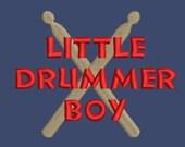Little drummer boy/girl drum sticks machine embroidery design Instant Download