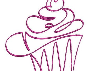 cupcake machine embroidery design Instant Download