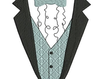 baby tuxedo t-shirt machine embroidery design Instant Download