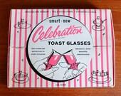 "SALE 15% OFF 1950 Pink ""Celebration Glasses"" CURIOUSITY"