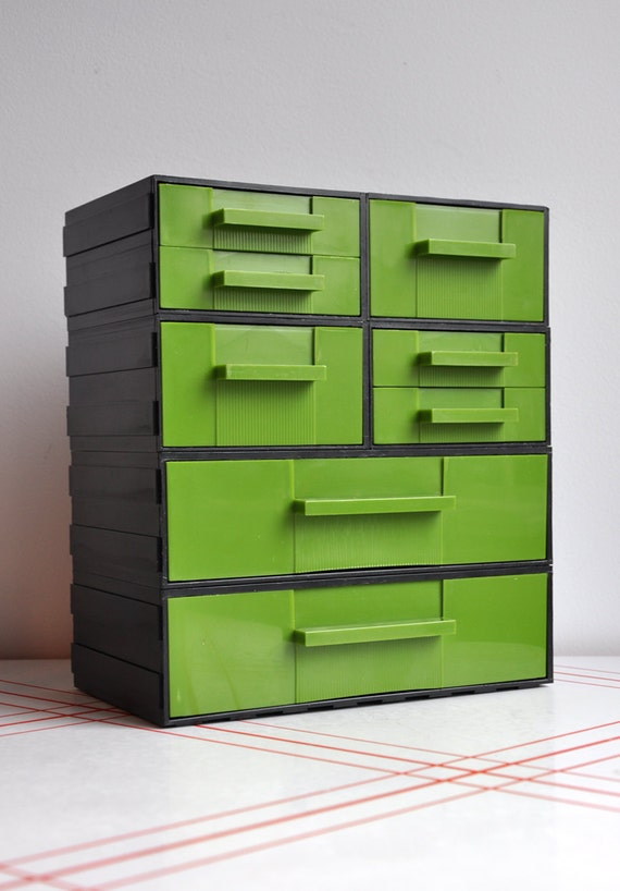 Retro Green Desk Caddy Organizer