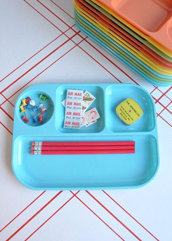 Bright Colored Trays - Desk Organizer - Set of 2