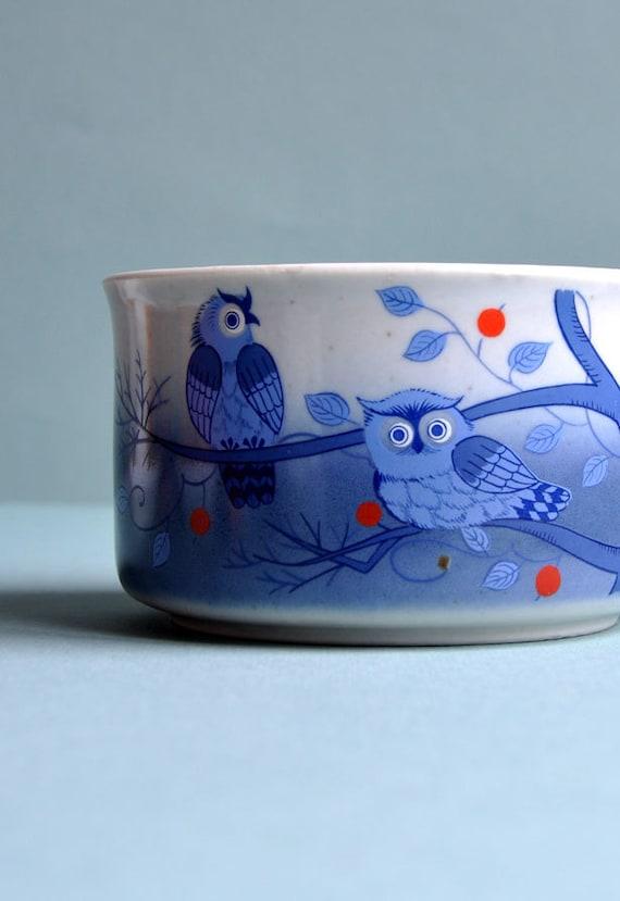 """Retro """"Blue Owls"""" Mug"""