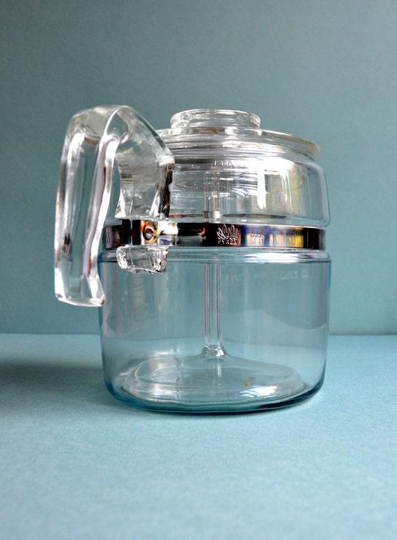 1950s Pyrex Flameware Perculator Coffee Pot - 6 Cup - Complete