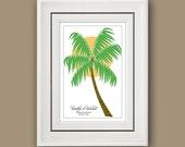 Guest book PALM TREE Beach Wedding 12 x 17 print