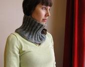 Blue Light-Woll knitting neckwarmer