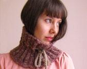 Purple Wool Knitted Neckwarmer-ready to ship