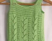 Malachite Genuine -summer hand knitting shirt for girls