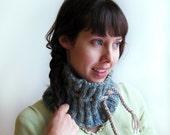 Blue Green Knitted Neckwarmer