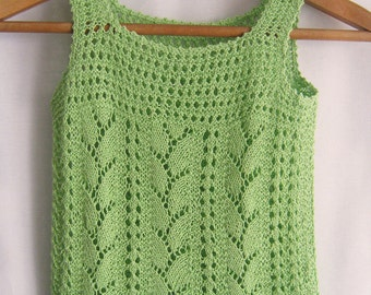 Malachite Genuine -summer hand knitting shirt for girls