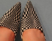 Checkered Mia 3 Inch Heels