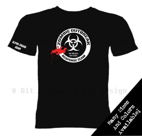 Zombie Outbreak Response Team Custom Name T Shirt - Walking Dead