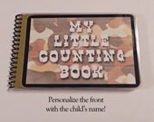 Children's Counting Book, Laminated, Personalized, 1-15, Learn to Count, Learn Numbers