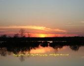 Sunset Over the Pond - Lovers Lane - Augusta, GA