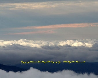 Pink Skies and Clouds on the Cherohala Skyway, Tennessee to North Carolina