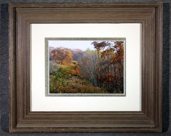 Colors of the Blue Ridge 5x7 matted and framed in an 8x10 Barnwood Frame
