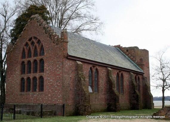 Old Church at Jamestown - Jamestown Settlement, Virginia