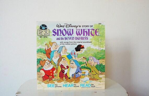 Snow White Book Record Vintage Kid's Toys