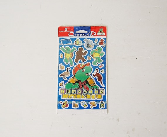 Franklin Turtle Stickers For Scrapbooking, Collage or Collecting