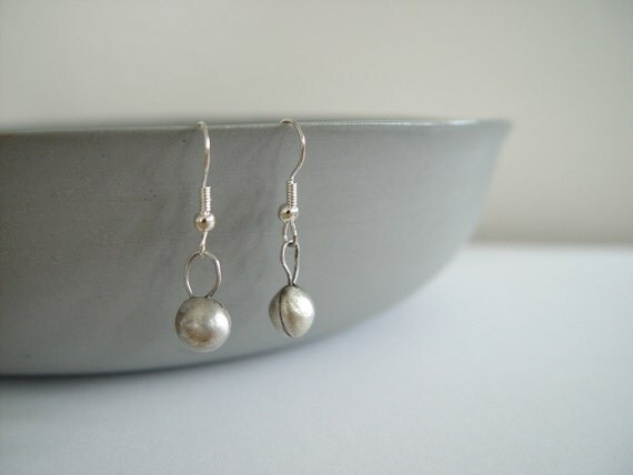 Minimalist Silver Earrings Sterling Silver Earrings Modern Metal Jewelry Forged Sterling Silver Contemporary Metalwork