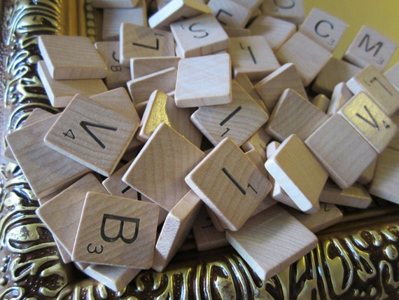 100 Wooden Scrabble Tiles for Pendants or Other Craft Projects