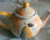Fruit Water Color Tea Pot