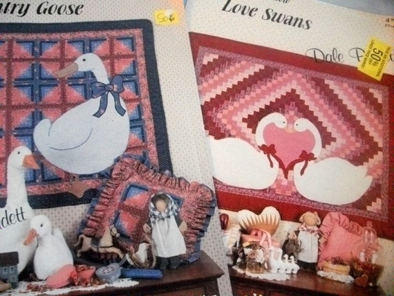 Two Quilt Pattern A Goose and Two Swans