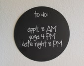 Small Round Magnetic Chalkboard