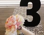 Large Standing Table Number Wedding Decor Centerpiece Magnetic Chakboard Black Wedding Custom Centerpiece