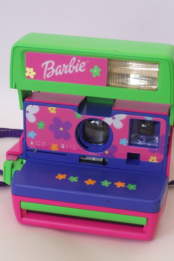 Vintage Barbie Polaroid Camera Pink Polaroid Camera