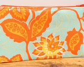 Zipper Pouch - Floral in Amber