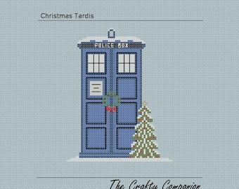 Christmas Tardis - Doctor Who/Tardis Inspired PDF Cross Stitch Pattern - INSTANT DOWNLOAD