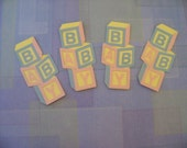 4 baby embelish die cuts boy or girl color scheme can do specific colors
