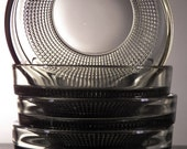 Vintage Mod Bowls Gray Smoked Glass Set of 5 E-00186