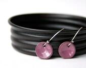 Petite Enamel Earrings Purple