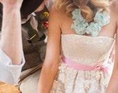 """Lace Floral Bib Necklace """"Delilah"""""""