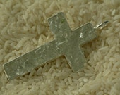 Cross Pendant with Clear Glass